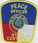 Texas Peace Officer Patch