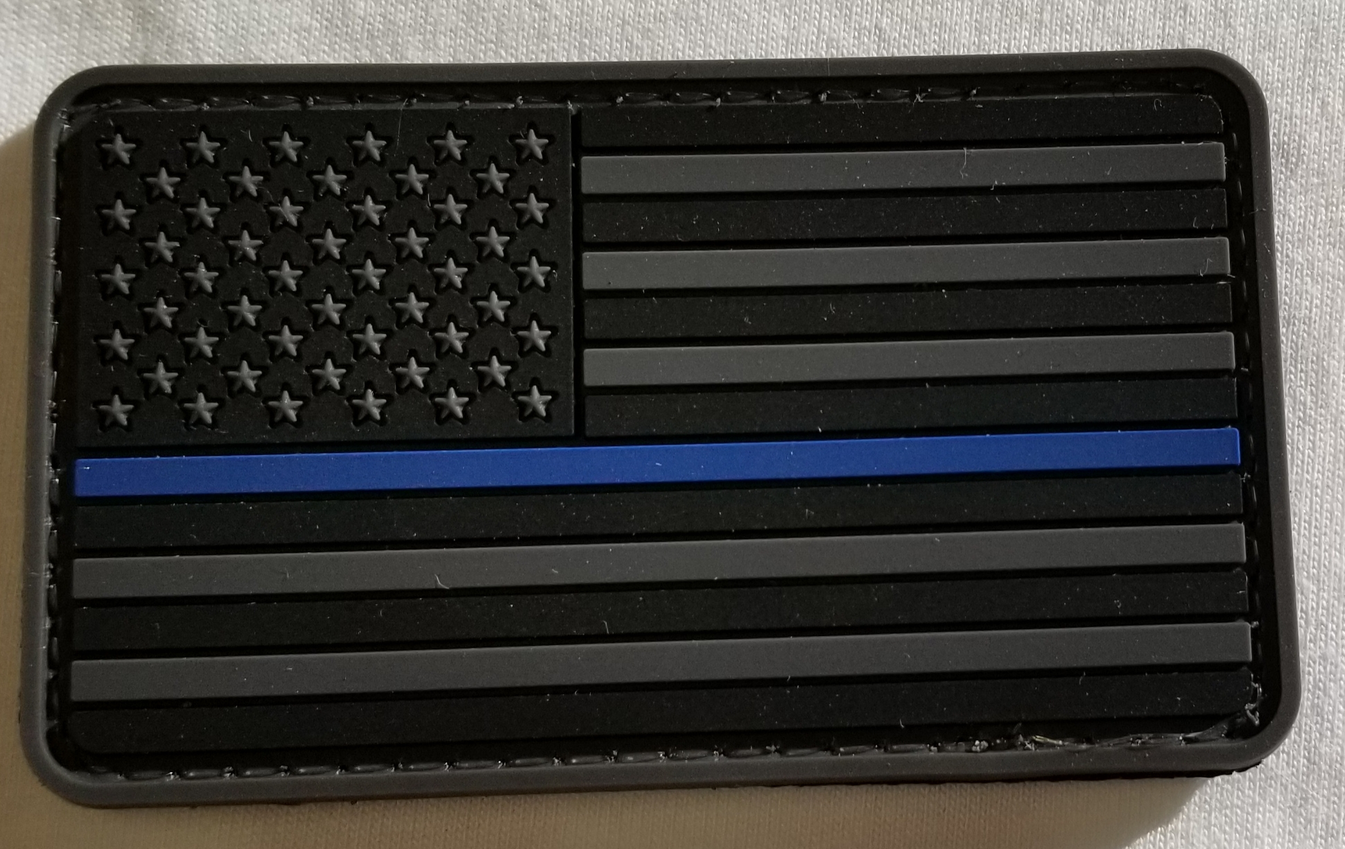 Morale Patch - Thin Blue Line Flag (Subdued Gray)
