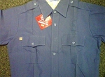 TOPPS Nomex Short Sleeve Medium Blue Shirt
