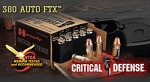 Hornady 380 90 gr Critical Defense flex lock 25 rd box