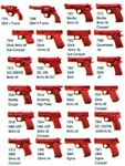 ASP Red Training Handguns
