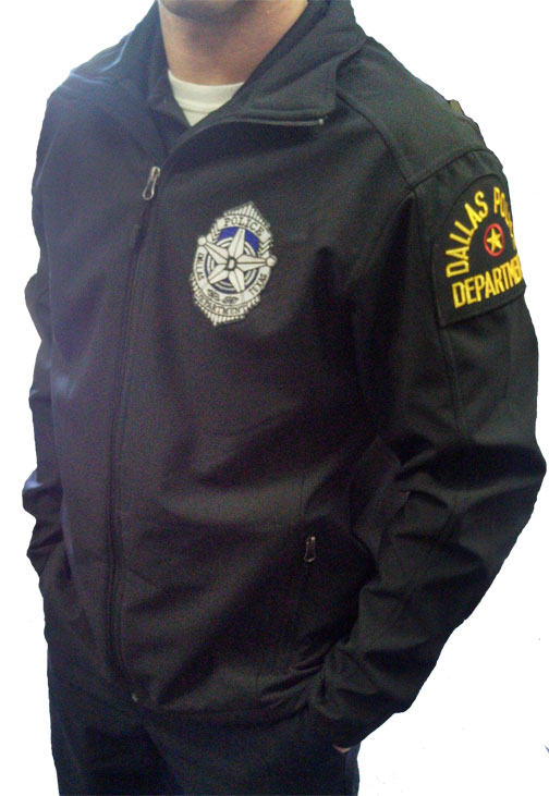 Soft Shell Jacket with DALLAS POLICE DEPARTMENT Patches