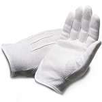 Dress White Gloves with Dotted Palm