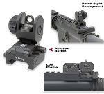 GG&G A2 SPRING LOADED REAR FLIP UP SIGHT
