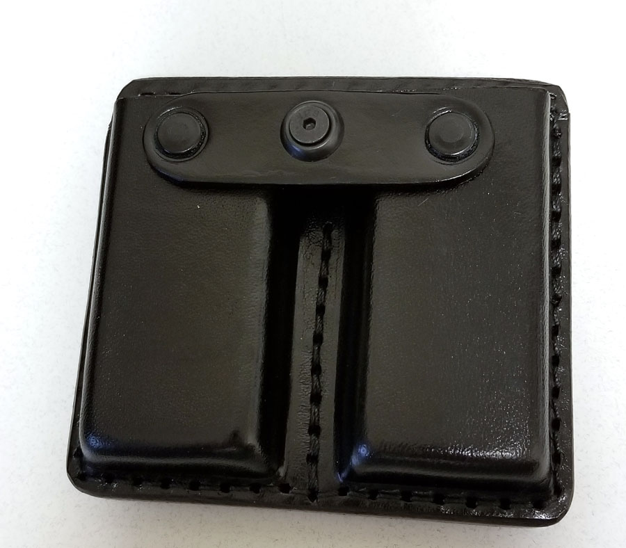 Gun Leather Open Double Magazine Case