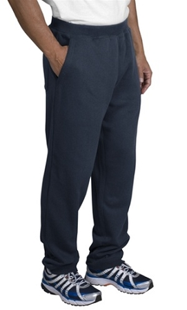 Sweat Pants with Pocket in Navy heavyweight. Jerzee