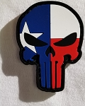 Morale Patch -Punisher/Skull with Texas Flag