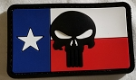Morale Patch - Texas Flag with Punisher