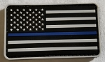 Morale Patch - Thin Blue Line Flag (Subdued White)