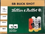 Sellier & Bellot 12 gauge 00 Buck, 2-3/4 Max