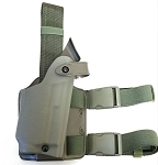 Safariland 6004-8310-561 for Glock with light or combo, STX O.D. GREEN Tactical Thigh Holster-Right Hand