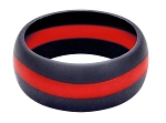 Thin Red Line Silicone Ring