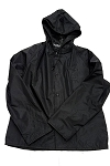 NEESE Rain Jacket with Hood - BLACK -  Screened