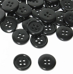 Plastic Shirt Button pack of 20 Black