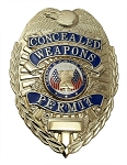 Concealed Handgun Badge - Silver or Gold