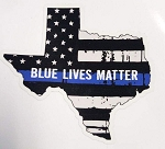 Decal - Texas Blue Lives Matter 3.5