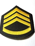 Master sgt Patch gold on black