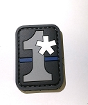 Morale Patch - 1Asterisk (thin blue line) 1*