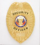Security Shield Badge - Silver or Gold