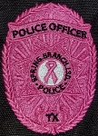 Custom Pink Embroidered Badge Patch