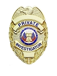 Private Investigator Badge, Silver or Gold