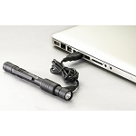 Streamlight STYLUS PRO® USB Rechargeable PEN LIGHT - Black Metal/White LED #66134