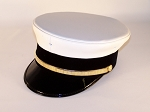 MIDWAY Fire Duty bell crown Hat white leatherette