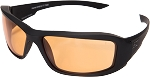 EDGE Eyewear Hamel - Matte Black Thin Temple / Tiger's Eye Vapor Shield© - XH610-TT