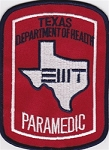 Texas Department of Health PARAMEDIC patch