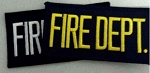 Fire Dept Small Panel Patch, 2x4