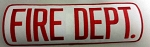 FIRE DEPT (red) Large Panel Patch, 4x11