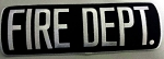 FIRE DEPT Large Panel Patch, 4x11