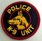 POLICE K9 Unit Round Patch
