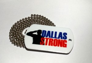DALLAS STRONG Dog Tags (double sided) with chain