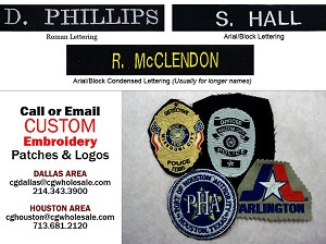 Custom Embroidered Name Strips