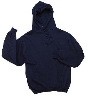 Pull Over Sweat Shirt Hoodie, Navy-Jerzee