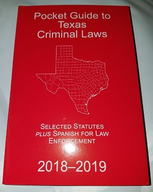 Peace Officer's Pocket Statutes - Criminal Law 2018-2019